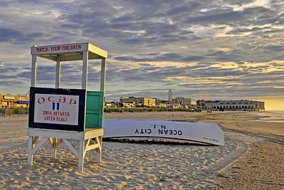 Morning On The Beach Art Print by Dan Myers