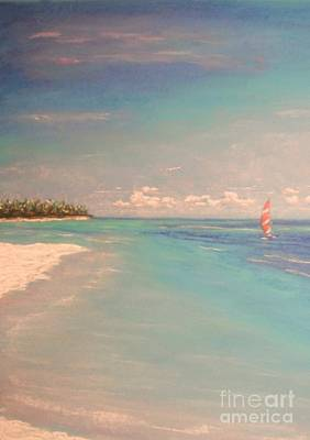 Painting - Morning On The Beach by The Beach  Dreamer