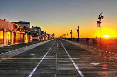 Morning On The Boardwalk 2 Art Print by Dan Myers