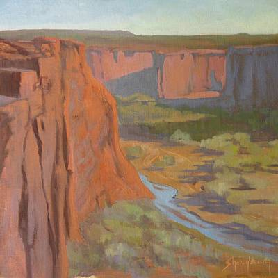 Painting - Morning On The Cliffs by Sharon Weaver
