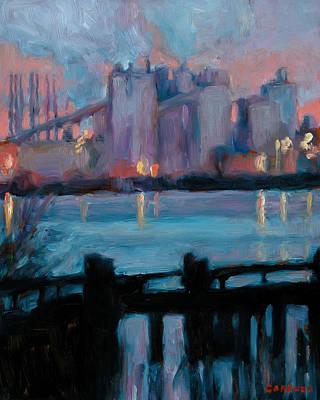 Philadelphia Scene Painting - Morning On The Delaware by Jesse Gardner
