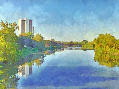 Digital Art - Towers On The Olentangy. The Ohio State University by Digital Photographic Arts