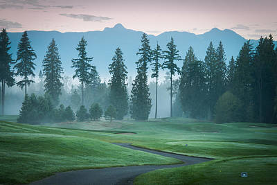 Morning On The Golf Course Art Print