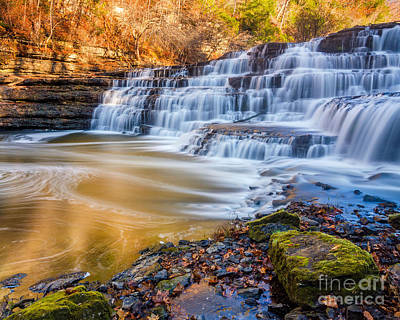 Morning On The Upper Falls Art Print by Anthony Heflin