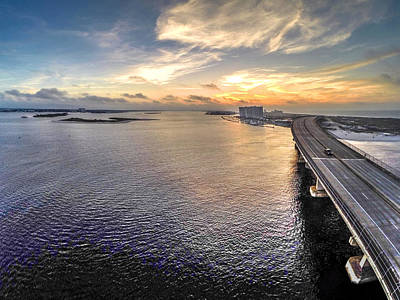 Digital Art - Morning Over Perdido Bridge by Michael Thomas