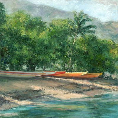 Haiku Wall Art - Painting - Morning Paddle by Stacy Vosberg