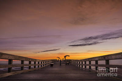 Morning Pier Deck Art Print