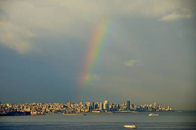 Cloud Photograph - Morning Rainbow Over Beirut by Steven Richman