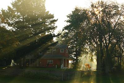 Art Print featuring the photograph Morning Rays by Lynn Hopwood