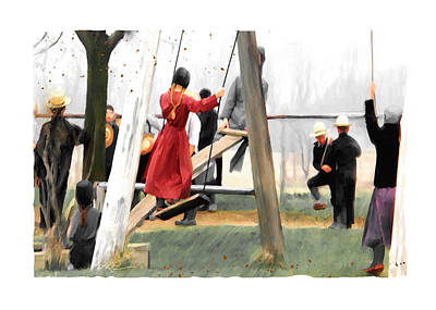 Art Print featuring the painting Morning Recess by Bob Salo