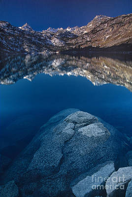 Photograph - Morning Reflection Lake Sabrina Eastern Sierras California by Dave Welling