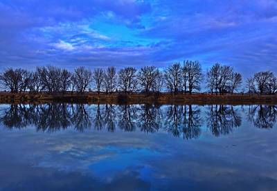 Blue Morning Reflection Art Print