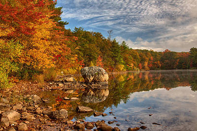 Photograph - Morning Reflection Of Fall Colors by Jeff Folger