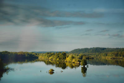 Morning Reflection On The Tennessee River Art Print by Jai Johnson