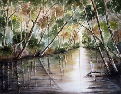 Morning Reflections Art Print by Mary McCullah