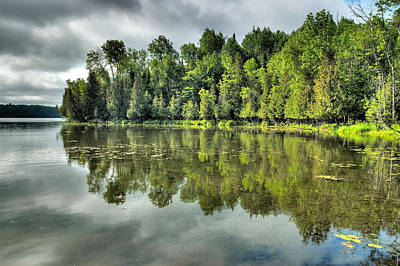 Photograph - Morning Reflections On Little Cedar Lake by Rob Huntley
