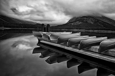 Canoe Photograph - Morning Rest by Andrew Soundarajan