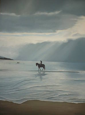 Painting - Morning Ride by Caroline Philp