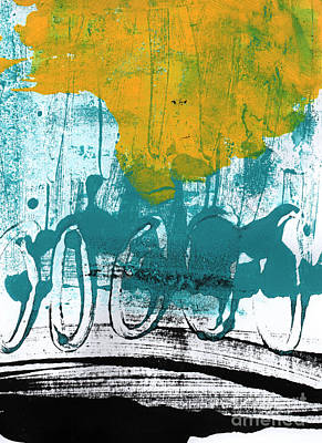 Transportation Mixed Media - Morning Ride by Linda Woods