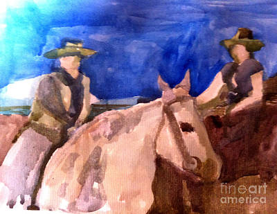 Morning Ride Art Print by Sandra Stone