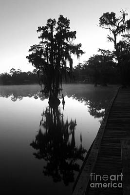 Photograph - Morning River Fog In Bw by Steven Parker