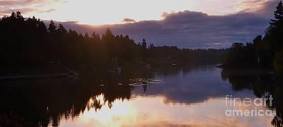 Photograph - Morning River Sunrise by Susan Garren