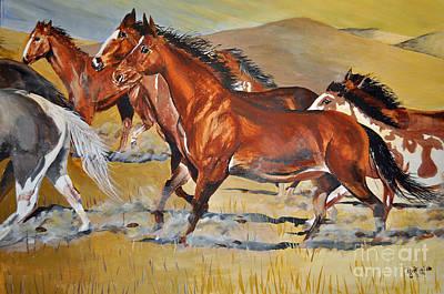 Painting - Morning Run by Doug Heavlow
