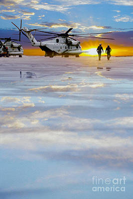 Helicopter Mixed Media - Morning Run by Jon Neidert