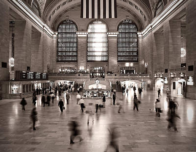 Print featuring the photograph Morning Rush - Grand Central Terminal by James Howe