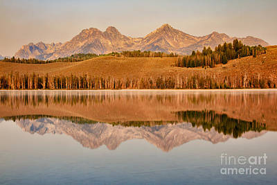 Photograph - Morning Sawtooth Reflections by Robert Bales