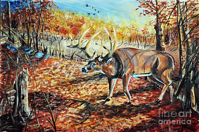 Painting - Morning Scrape by Doug Heavlow