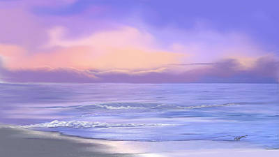 Art Print featuring the digital art Morning Sea Breeze by Anthony Fishburne