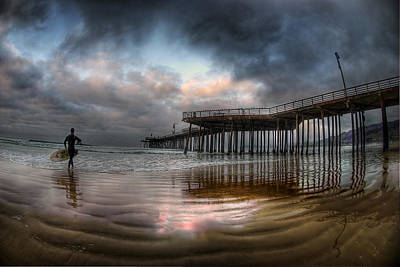 Layered Photograph - Morning Session In Pismo by Sean Foster