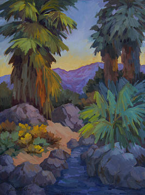 Canyon Painting - Morning Shade 2 by Diane McClary