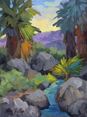 Canyon Painting - Morning Shade Andreas Canyon by Diane McClary