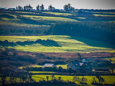 Photograph - Morning Shadows Over Irish Countryside by James Truett