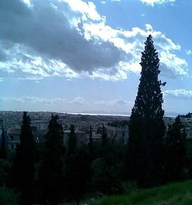 Photograph - Morning Sky Of Athens by Katerina Kostaki