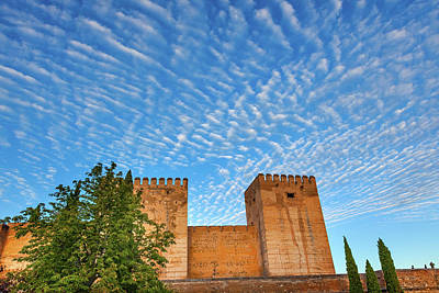 Morning Sky Over Alhambra Castle Art Print