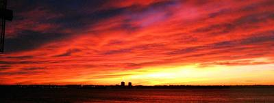 New York Harbor Photograph - Morning Sky by Robert McCulloch