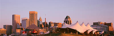 Baltimore Md Photograph - Morning Skyline & Pier 6 Concert by Panoramic Images