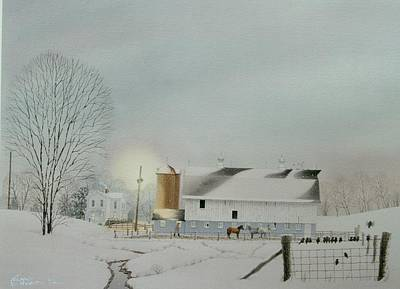 Painting - Morning Snow by C Robert Follett