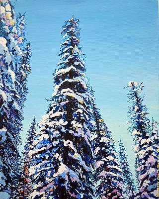 Painting - Morning Snow by Gregory Merlin Brown