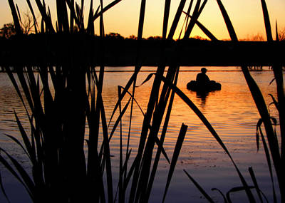 Papillion Photograph - Morning Solitude - Fisherman - Walnut Creek Lake by Nikolyn McDonald
