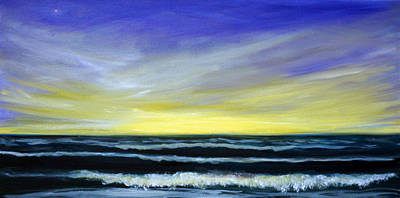 Morning Star And The Sea Oceanscape Art Print