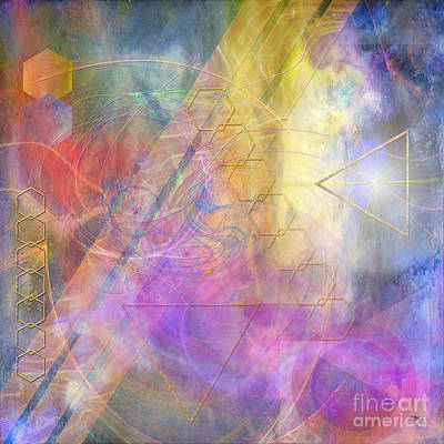 Digital Art - Morning Star - Square Version by John Beck