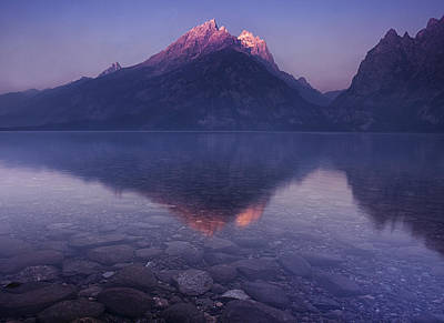 Teton Photograph - Morning Stillness by Andrew Soundarajan