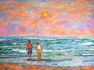 Painting - Morning Stroll At Isle Of Palms by Kendall Kessler
