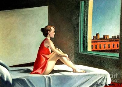 Painting - Morning Sun After E.hopper by Kostas Koutsoukanidis