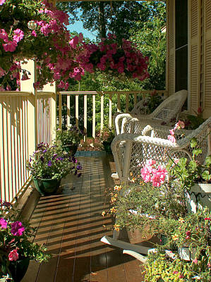 Photograph - Morning Sun On My Porch by Jeff Folger