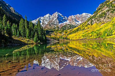 Photograph - Morning Sun On The Maroon Bells  by Willie Harper